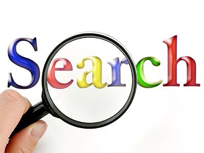 検索エンジンイメージと虫眼鏡