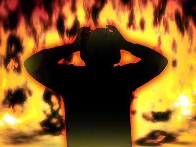 SNSが炎上してしまった男性