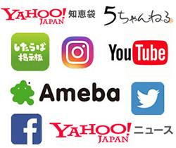 様々なSNSや検索サービス